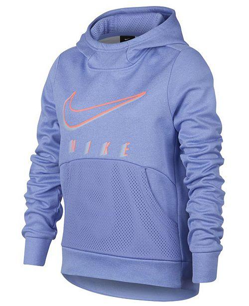 c6df3e2b57e6 Nike Big Girls Therma Logo-Print Training Pullover Hoodie   Reviews ...