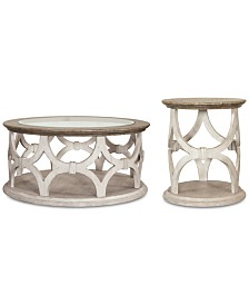 Hadley Table Furniture, 2-Pc. Set (Coffee Table & Side Table)