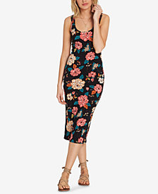 Billabong Juniors' Share Joy Printed Midi Bodycon Dress