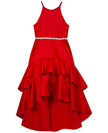 Rare Editions Big Girls Ruffle-Trim High-Low Hem Party Dress