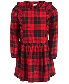 Epic Threads Little Girls Ruffle-Trim Plaid Dress, Created for Macy's