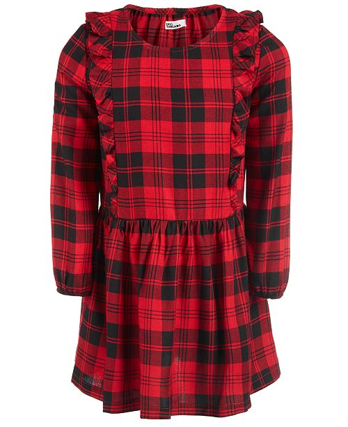 dc765b874dd96 ... Epic Threads Toddler Girls Ruffle-Trim Plaid Dress, Created for Macy's  ...
