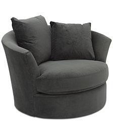"Gidette 46"" Fabric Swivel Chair"