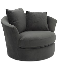 "CLOSEOUT! Gidette 46"" Fabric Swivel Chair"