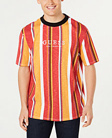 GUESS Originals Men's Striped Logo T-Shirt