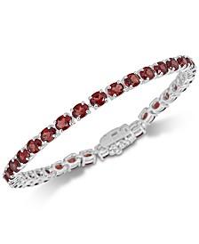 Rhodolite Garnet Link Bracelet (12 ct. t.w.) in Sterling Silver