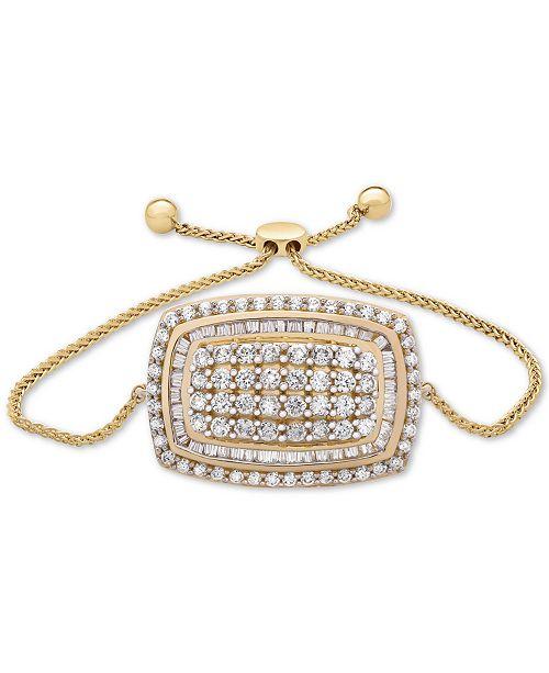 5f97483b81f Macy's Wrapped in Love™ Diamond Cluster Bolo Bracelet (2 ct. t.w. ...
