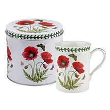 Portmeirion Botanic Garden Mug and Tin Set - Poppy
