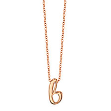 "Unwritten Initial 18"" Pendant Necklace in Rose Gold-Tone Sterling Silver"