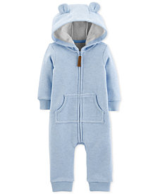 Carter's Baby Boys Striped Hooded Dog Coverall