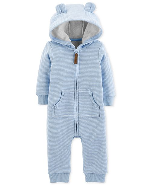 79102535a Carter s Baby Boys Striped Hooded Dog Coverall - All Baby - Kids ...