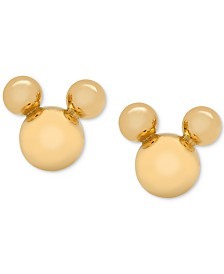 Disney© Children's Mickey Mouse Stud Earrings in 14k Gold