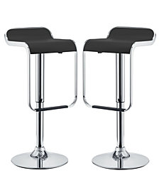 Modway LEM Bar Stool Vinyl Set of 2