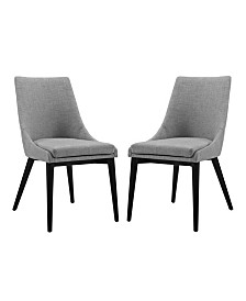Modway Viscount Dining Side Chair Fabric Set of 2