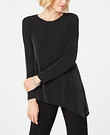 Calvin Klein Metallic Asymmetrical Top
