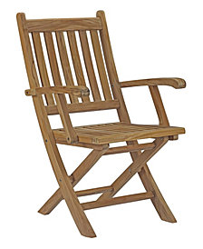 Modway Marina Outdoor Patio Teak Folding Chair