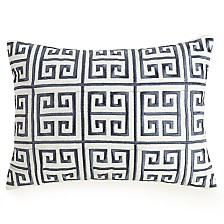 "Ayesha Curry Greek Key Embroidered 12"" x16"" Decorative Pillow"