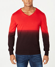 I.N.C. Men's New Playlist Dip Dye Sweater, Created for Macy's