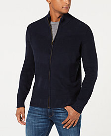 Sean John Men's Mock Neck Full Zip Sweater