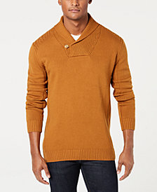 Sean John Men's Solid Shawl Collar Sweater