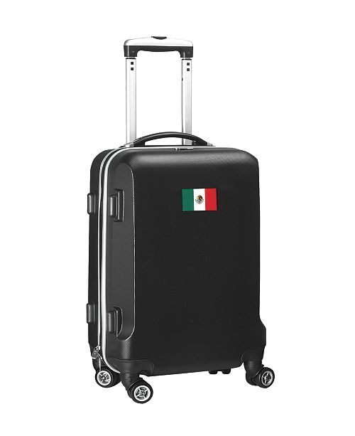 """Mojo Licensing 21"""" Carry-On Hardcase Spinner Luggage - Mexico Flag"""