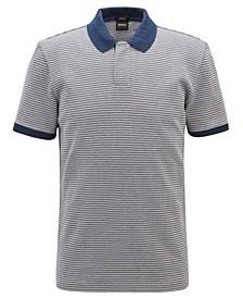 BOSS Men's Slim-Fit Micro-Pattern Cotton Polo