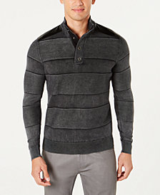 I.N.C. Men's Mineral Striped Sweater, Created for Macy's