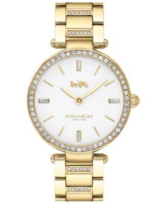 코치 여성 손목 시계 COACH Womens Park Gold-Tone Stainless Steel Bracelet Watch 34mm,Silver