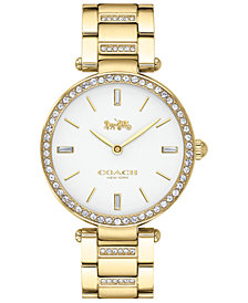 COACH Women's Park Gold-Tone Stainless Steel Bracelet Watch 34mm