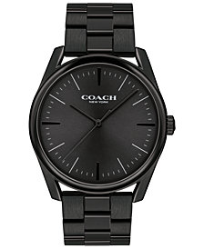 COACH Men's Preston Black Stainless Steel Bracelet Watch 41mm