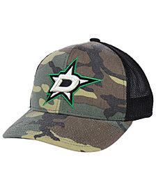 adidas Dallas Stars Camo Trucker Snapback Cap