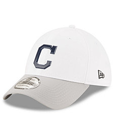 New Era Cleveland Indians White Batting Practice 39THIRTY Cap