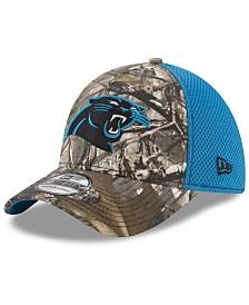 New Era Carolina Panthers Realtree Camo Team Color Neo 39THIRTY Cap
