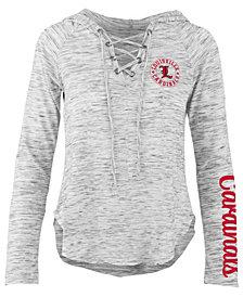 Pressbox Women's Louisville Cardinals Spacedye Lace Up Long Sleeve T-Shirt