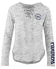 Pressbox Women's Pittsburgh Panthers Spacedye Lace Up Long Sleeve T-Shirt