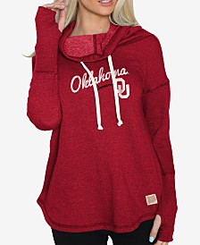 Retro Brand Women's Oklahoma Sooners Funnel Neck Sweatshirt