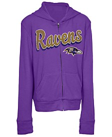 5th & Ocean Baltimore Ravens Sweater Full-Zip Hoodie, Girls (4-16)