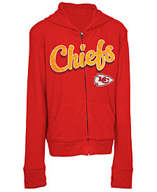 5th & Ocean Kansas City Chiefs Sweater Full-Zip Hoodie, Girls (4-16)