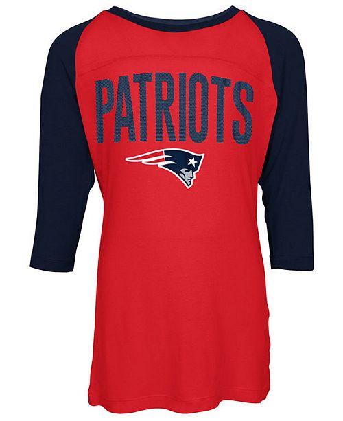 best service 63447 550a6 New England Patriots Raglan T-Shirt, Girls (4-16)