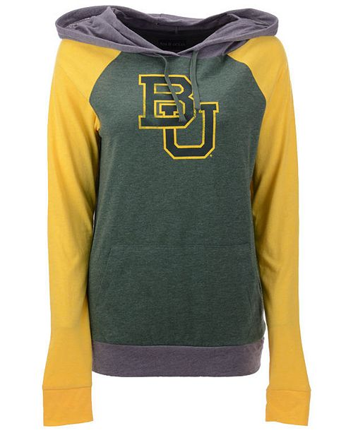 5th & Ocean Women's Baylor Bears Big Logo Raglan Hooded Sweatshirt