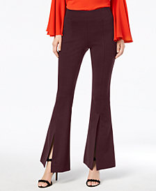 I.N.C. Petite Split-Leg Flare Pants, Created for Macy's
