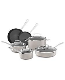 Architect® 10-Pc. Non-Stick Pour & Strain Cookware Set, Created for Macy's