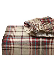 Eddie Bauer Queen Plaid Flannel Sheet Set