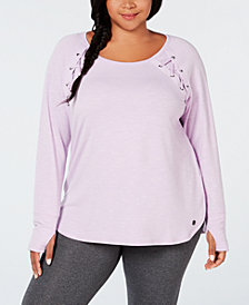 Ideology Plus Size Tie-Detail Top, Created for Macy's