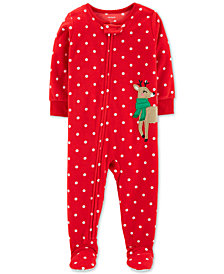 Carter's Toddler Boys & Girls Fleece Reindeer Pajamas