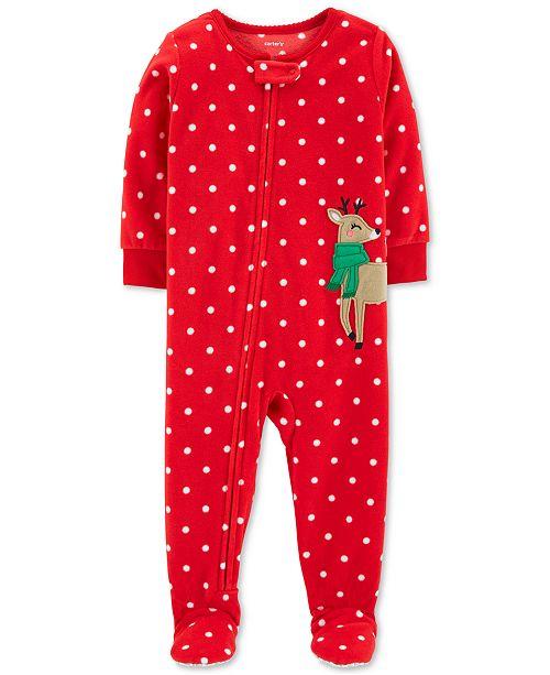 ef0e4720b Carter s Toddler Boys   Girls Fleece Reindeer Pajamas   Reviews ...