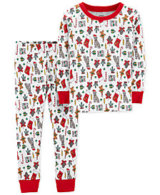 Carter's Toddler Boys Holiday-Print Cotton Pajamas