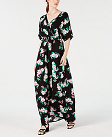 Material Girl Juniors' Kimono-Sleeve Maxi Dress, Created for Macy's