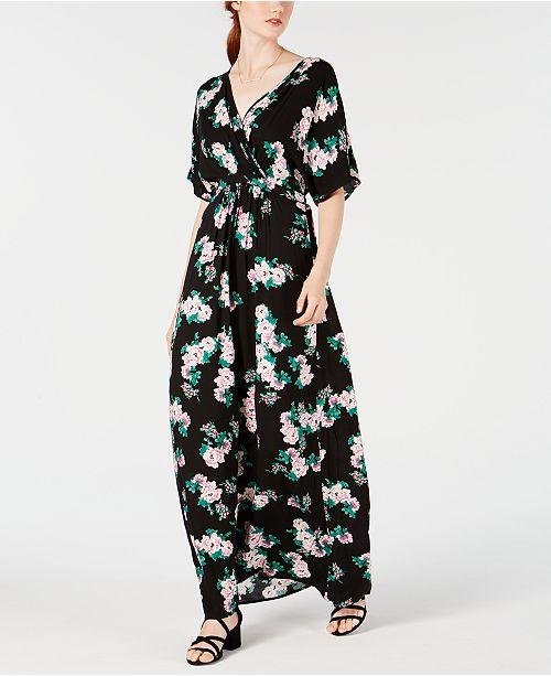 Material Girl Juniors' Kimono-Sleeve Maxi Dress, Created for Macy's