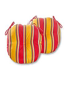 Set of 2 Round Outdoor Bistro Chair Cushion